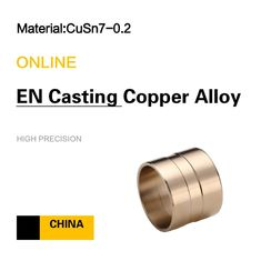 China CC492K CuSn7- 0.2  Sleeve Bushings EN Wrought Copper Alloy factory