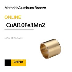 Aluminum Bronze CuAl10Fe3Mn2 Sleeve Bushings Copper Alloy Bearings For Dozers supplier