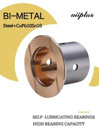 SAE797 Steel With Cupb10sn10 Bimetal Sleeve Bearing Indents Oil Or Grease Welded Joint