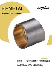China SAE799 Bimetal Bearing Bushes Sintered CuPb24Sn4 Material JF -720 Plain Bearing factory