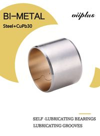 Copper Biemtal Sleeve Bushes Steel+CuPb30 with Lubricating Grooves 700