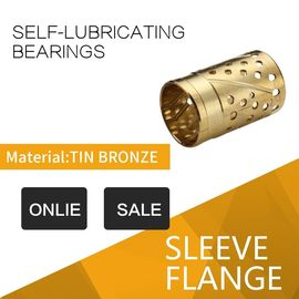 China Custom Tribological Grooves Or Sockets CuZn32 Bronze Sleeve Bushings With Lubricating factory