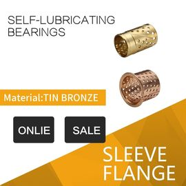 Custom Tribological Grooves Or Sockets CuZn32 Bronze Sleeve Bushings With Lubricating supplier