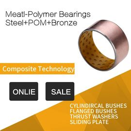 POM Indents Self Lubricating Plain Bearing Bronze Metal Polymer Bearings Inch Custom Size supplier