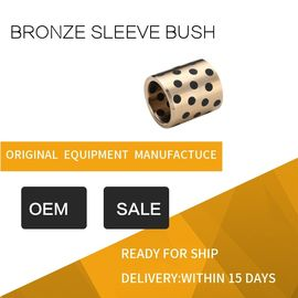 Highest Strength Standard Size C95400 Aluminum Bronze Graphite Plugged Bronze Sleeve Bushing