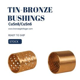 Tin Bronze DIN CuSn8 Sleeve Bushings E90 E90F PRM PRMF BMZ FB090 Diamond Hole Type supplier