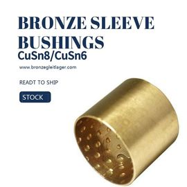 China Tin Bronze Din Cusn8 Sleeve Bushings E90 E90F PRM PRMF BMZ FB090 Round Oil Pockets factory
