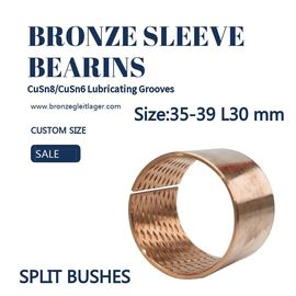 China CuSn8P Split Sleeve Bronze Bushing  ID35 - 39 L30mm Stock Size factory