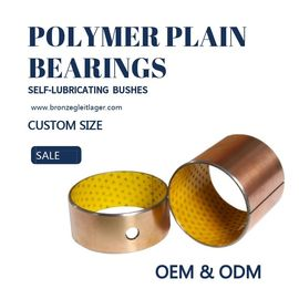 China Oil Hole Composite Yellow Polymer Plain Bearings Guide Sleeve Copper factory