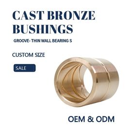 Customzied Oil / Grease Groove Casting Bronze Sleeve & Flange Six To Eight Designs for Loaders supplier