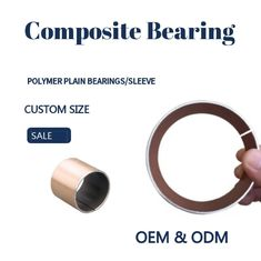 China Polymer Plain Bearings Types Composite Self-lubricating Red PTFE Bushing Without Pb factory