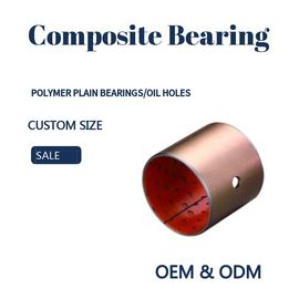 China Steel Bronze Red Polymer Plain Bearings Split Bushes Tin / Copper Made To Order factory