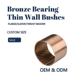 China CuSn8 Thin Wall TIn Bronze Sleeve Bushes For Agricultural Machinery factory