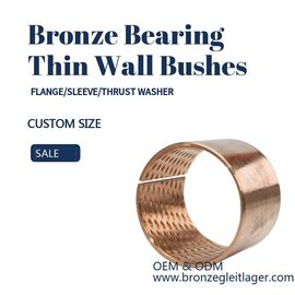 CuSn8 Thin Wall TIn Bronze Sleeve Bushes For Agricultural Machinery supplier