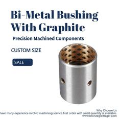 China Precision Machined Components Split Self Lubricating Bimetal Bushing With Graphite factory