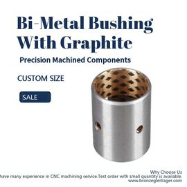 Precision Machined Components Split Self Lubricating Bimetal Bushing With Graphite