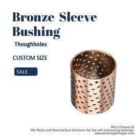 Thin - Walled Split Bronze Bushings Oil Pocket Metric Size Plain Bearing supplier