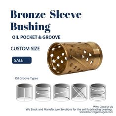 Thin Wall Split Oil Groove Bronze Bushings Brass Bearings Oil Socket For Construction Machinery