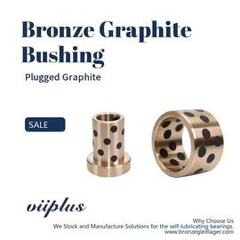 SOB Customized Self Lubricating Bronze Bushing With Graphite Sleeve Flange & Thrust