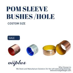 Oil Free Steel Back Plastic POM Layer Split Sliding Sleeve Bushing