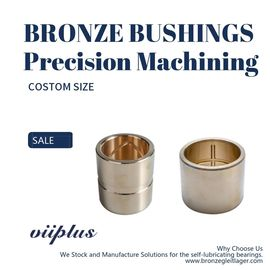 Aluminum Bronze CuAl10Fe3Mn2 Sleeve Bushings Copper Alloy Bearings For Dozers
