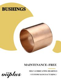 Bronze Bearings Made of CuSn8 with Lubrication Indents Plain Cylindrical Bearings Flanged Bearings Grease Reservoirs