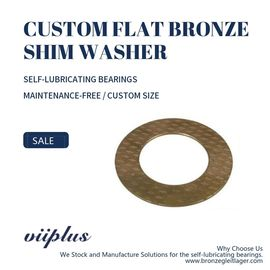 China CuSn8 / CuSn6 Custom Size Flat Bronze Thrust Washer Thin - Walled Self Lubricating Groove factory