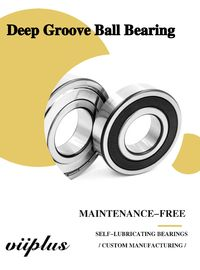 6204 6205 6206 6207 Series Deep Groove Bearing , Self Lubricating Bearing