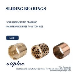 CUSN6 / CUSN8 - Bronze Bearing Rolled Self Lubricating Plain Bearing | Dry Sliding Bearing Gerollte Trockengleitlager