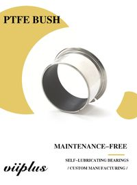 China Metric Sized Cylindrical Bearings - Steel Bronze PTFE Split Bushings | Self-lubricating Bearings factory