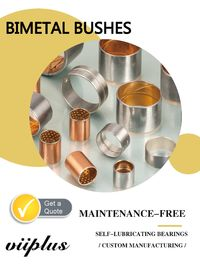 CC495K / CuSn10Pb10 Steel Bimetal Bronze Bushing & Strips Sheet Material ASTM Standard supplier