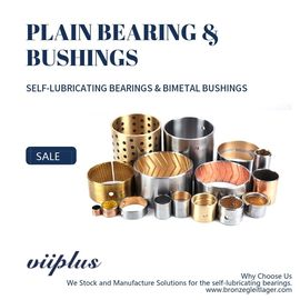 SAE-797 / CuPb10Sn10 | Bimetal Bearings - VIIPLUS SELF-LUBRICATING BRONZE BUSHING