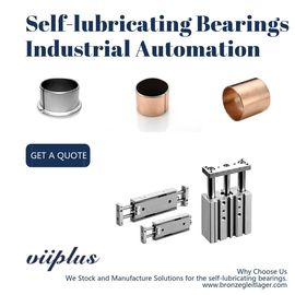 Straight Self Lubricating Plain Bearing / Bushings For Cylinder & Automatic Guide Rail
