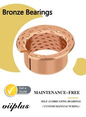 China CuSn8 & CuSn6.5 Bronze Bearings Material | Flange Cylindrical Bushes Type factory
