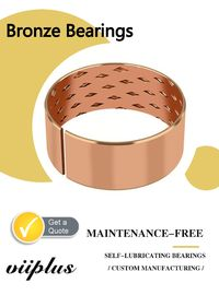 CuSn8 & CuSn6.5 Bronze Bearings Material | Flange Cylindrical Bushes Type supplier