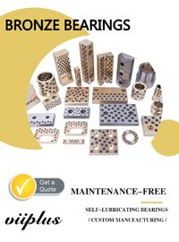 Stamping Die Bronze Gleitlager Machining Bushings Standard Oilless Duide Elements