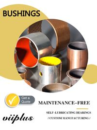 Metric Size Dry Sliding Bearings , Self Lube Bushings With Long Life Time