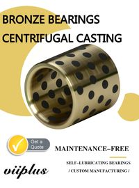 Centrifugal Casting Graphite Plugged Bushings Large Size C86300 Alloy