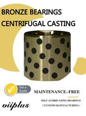 Centrifugal Casting Graphite Plugged Bushings Large Size C86300 Alloy supplier