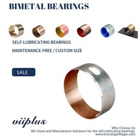 China CuPb24Sn4 Bimetallic Bearings Alloy Tin Coating Metric Flanged Oilite Bushes SAE 49 factory