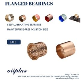 Wrapped Bronze Sleeve Bushings , Bronze Flange Bearing Size & Standard Tolerance
