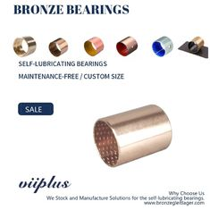 Wrapped Bronze Sleeve Bushings , Bronze Flange Bearing Size & Standard Tolerance supplier