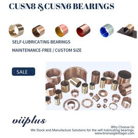 China CuSn8P Wrapped Bronze Bearings Bronze Washer & Copper Gasket High Load factory