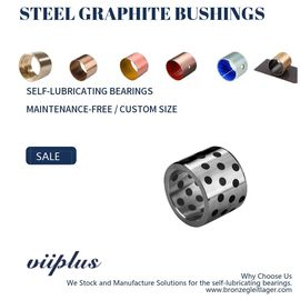Flange Steel Graphite Bushing Self Lube Wear Plates Metric Size Long Life supplier