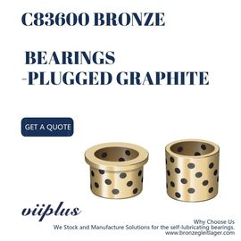 C83600 Bronze Flange Bearing , Custom Bronze Bushings Stamping Tooling Standard Parts