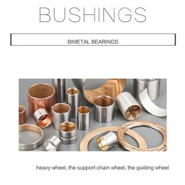 Track Roller Flange Bimetal Bearing Bushes , Steel Bronze Bimetal Bush supplier