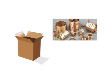 Bronze Bushing Metric Sleeve Bearings With Lubrication Pockets CuSn8 & CuSn6 Material