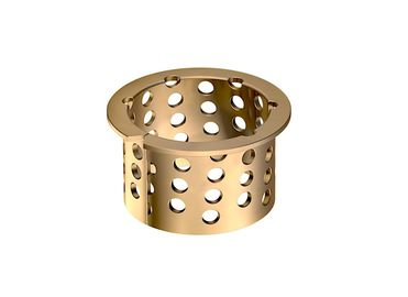 Durable Dry Sliding Bearing Gerolltes Bronze Gleitlager Perforiert CuSn8P DIN 17662 supplier
