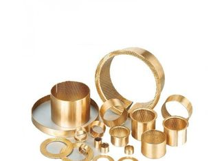 Gold Bronze Sleeve Bushings For Gearbox Drive Of Baling Machine Inner Diameter 44mm supplier