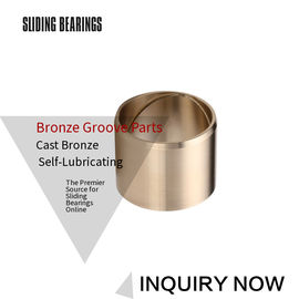 Centrifugal Casting Bronze Sleeve Bearings With Oil Grooves Brass Parts supplier